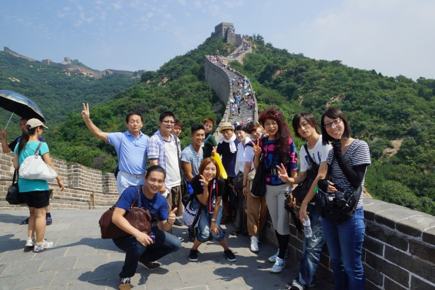 『万里の長城』へ出発